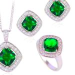 Emerald Stone Pendant , Ring , Earring Set