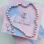 Mother Day Gift_Grey pearl necklace