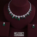 Emerald Bridal Necklace Set