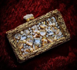 Mother Of pearl Box Clutch