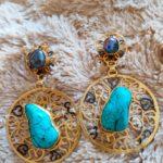 Cleopatra drop earrings