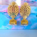 Amirah Golden Filigree Jhumkas