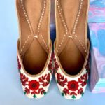 The Red Bloom Embellished Juttis