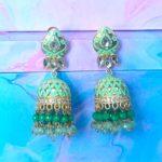 Aza Meenakari Jhumka Earrings