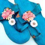 Blush & Blue Kolhapuris_detail