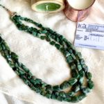 natural emerald necklace
