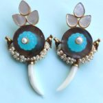 Charm statement earrings