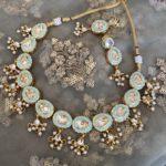 Mint Green Meenakari Necklace Set