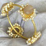 Rosalie Rose Quartz Bangle Bracelet_side