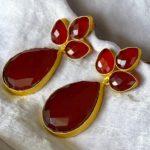 Ruby woo red drop earrings